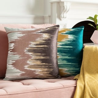Lena Modern Hand-Embroidered 20-in Poly or Feather Down Throw Pillow