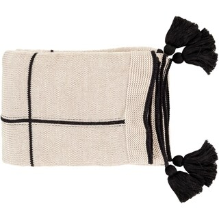 "Link to Karin Modern Knitted 50"" x 60"" Cotton Throw Similar Items in Blankets & Throws"