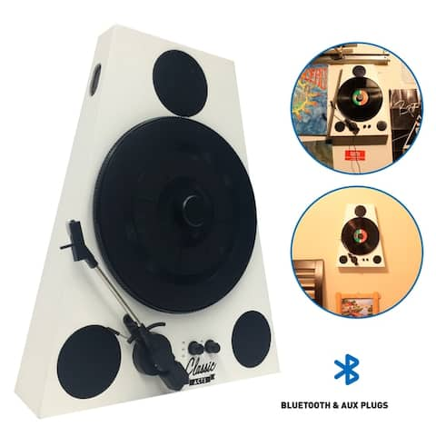 EasyGoProducts Vertical Bluetooth Turntable - 3 Speed Record Player