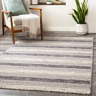 Arica Handmade Casual Stripe Wool Area Rug