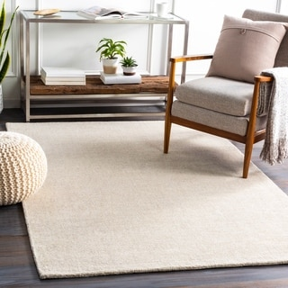 Emilio Handmade Wool Blend Solid Area Rug