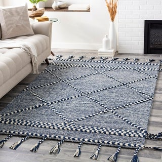 Loren Handmade Boho Tassel Wool Area Rug