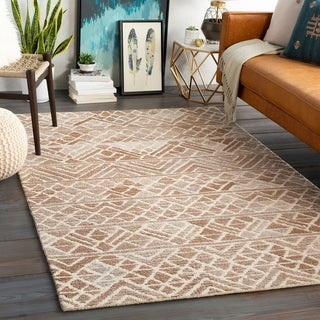 Tomaz Handmade Tribal Wool Blend Area Rug