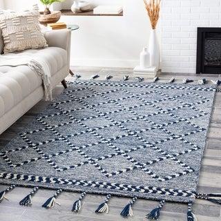 Trea Handmade Boho Tassel Wool Area Rug