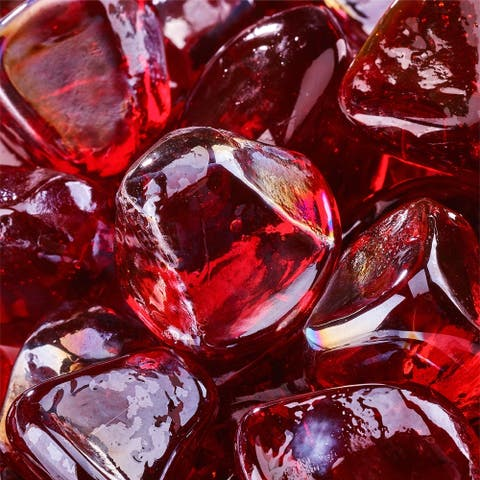 Fire Glass Diamonds Indoor and Outdoor Fire Pits or Fireplaces 10 Pounds