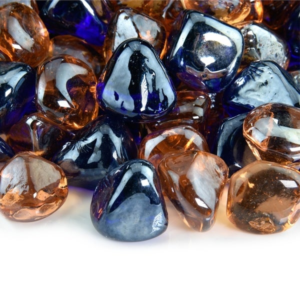 Fire Glass Diamond Blends   Indoor and Outdoor Fire Pits or Fireplaces   10 Pounds