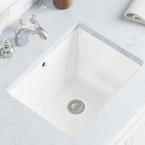 U1611-White Undermount Porcelain Bathroom Sink