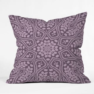 Deny Designs Boho Lavender Reversible Throw Pillow (4 Size Options)