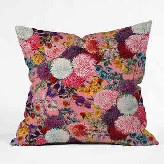 Deny Designs Floral Pom Pom Reversible Throw Pillow (4 Size Options)
