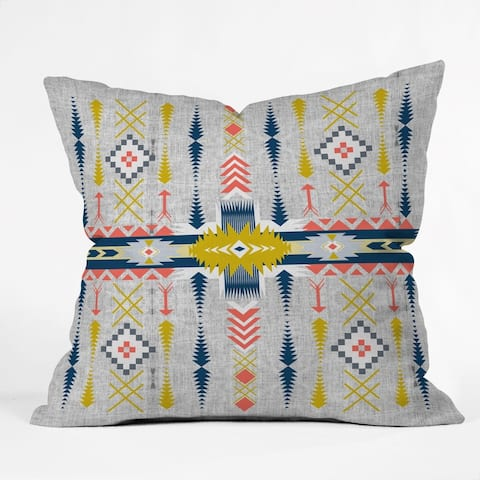 Deny Designs Bohemian Geometric Style Reversible Throw Pillow (4 Size Options)