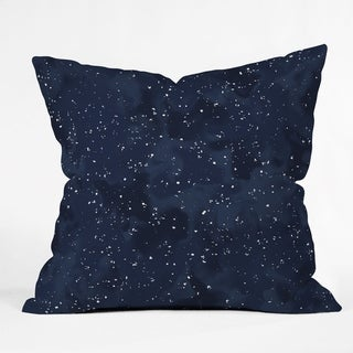 Deny Designs Navy Night Reversible Throw Pillow (4 Size Options)