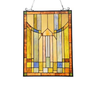 Gracewood Hollow Haggar Mission-style Window Panel Suncatcher