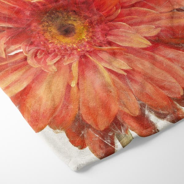 Designart Vivid Red Daisy Floral Botanical Throw Blanket 71x59 On Sale Overstock 29846524