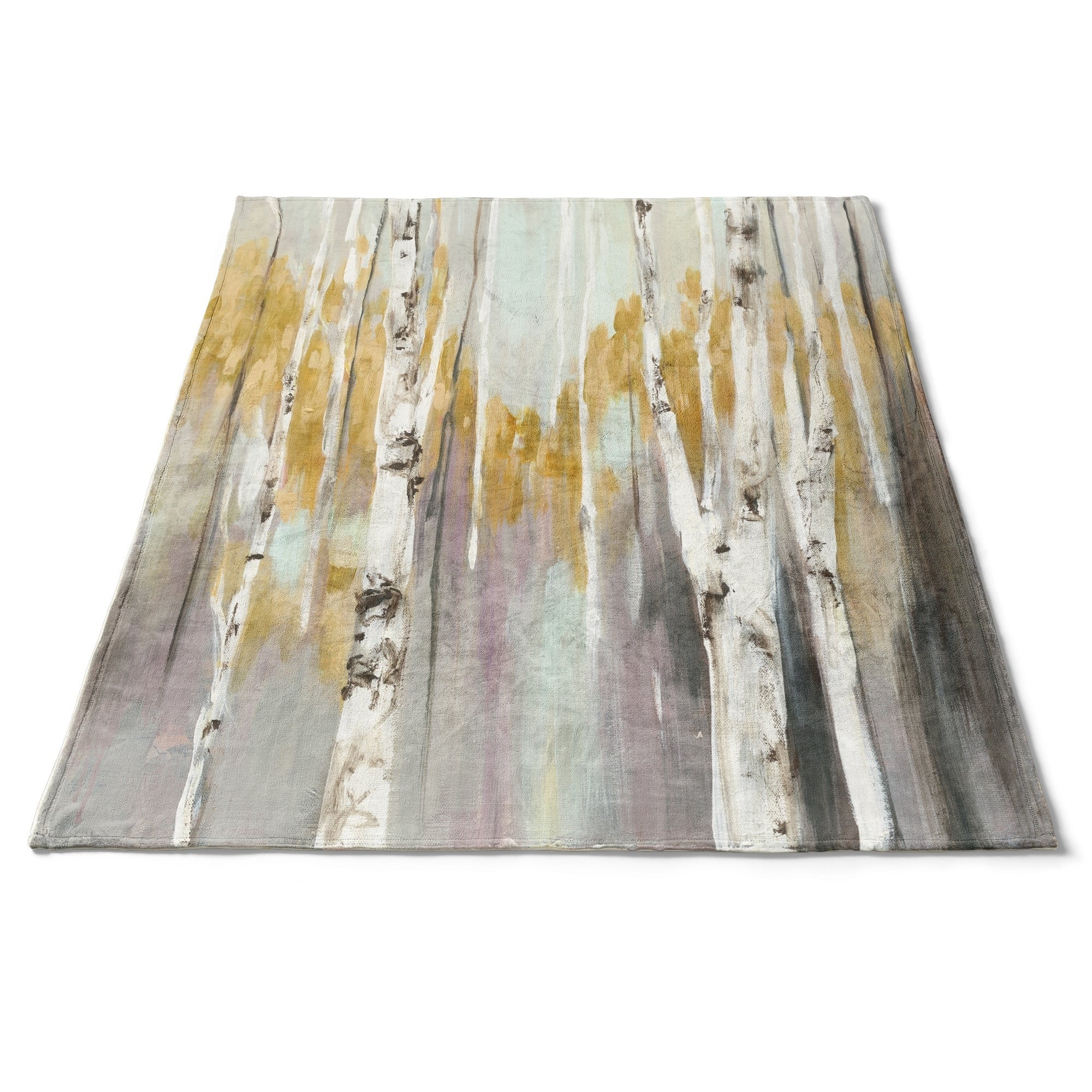 Designart Silver Birch Forest Ii Cottage Throw Blanket 71x59 On Sale Overstock 29846580