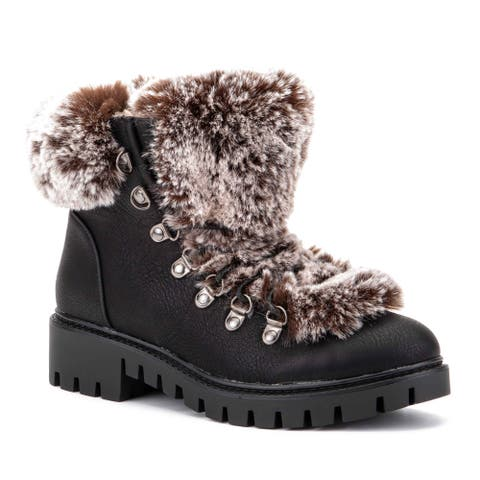 Olivia Miller 'I Want It That Way' Faux Fur Work Boots