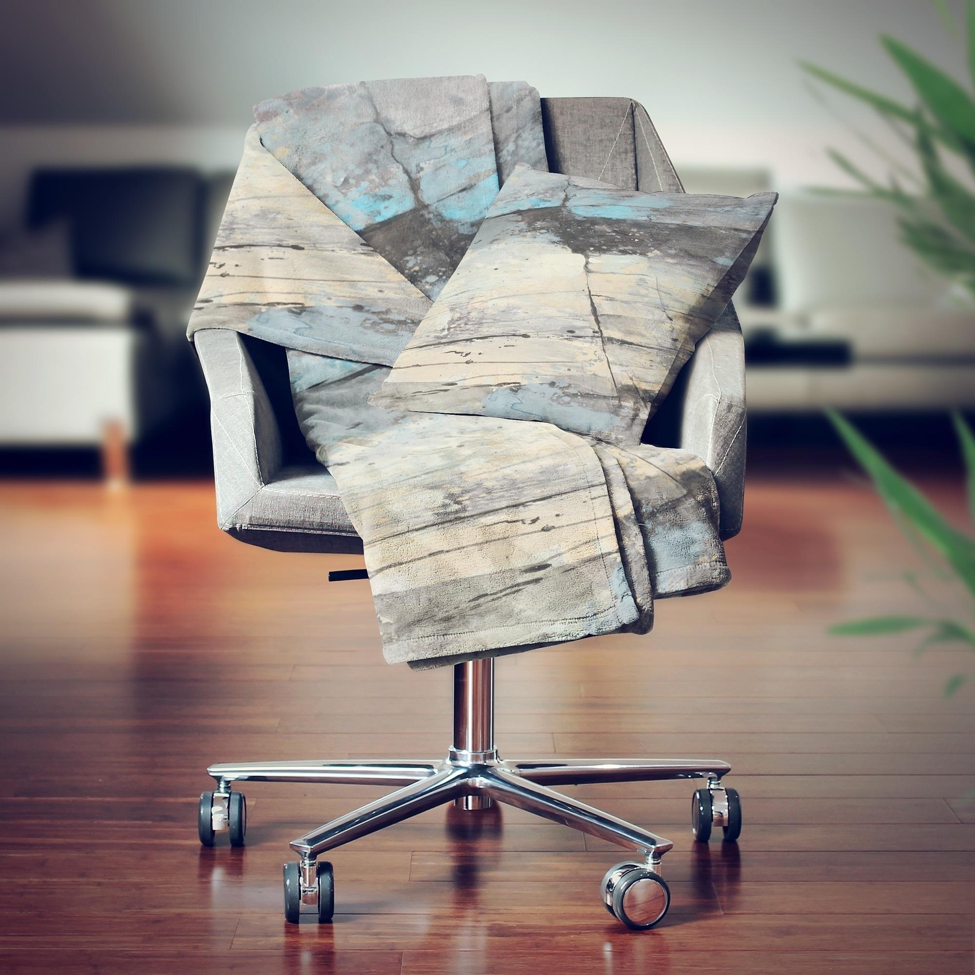 Designart Rock Teal Panel Ii Modern Throw Blanket 71x59 On Sale Overstock 29847811