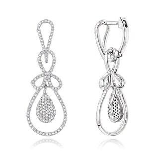Luxurman 14k Gold 4/5ct TDW Diamond Drop Earrings