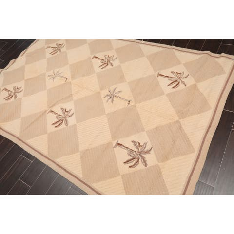 """Contemporary Hand Hooked Wool Area Rug (5'6""""x8') - 5'6"""" x 8'"""