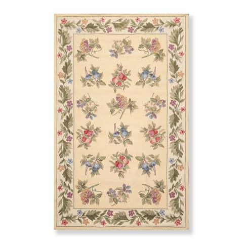 """Hand Hooked Nourison Country Oriental Area Rug (5'3""""x8'3"""") - 5'3"""" x 8'3"""""""