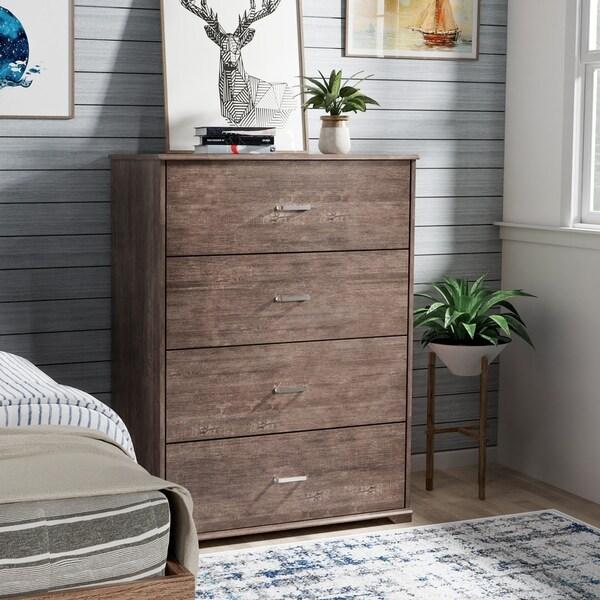 Carbon Loft Jorchid Walnut Finish 4-drawer Vertical Chest