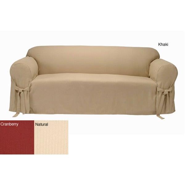 Herringbone Sofa Slipcover