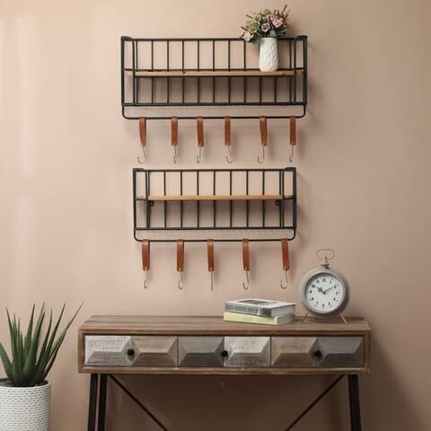 Carbon Loft Milligan 2-piece Wood and Metal Wall Shelf
