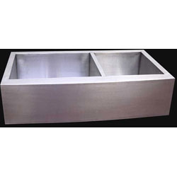 36-inch Stainless Steel Double-bowl Farmhouse Sink - Thumbnail 2