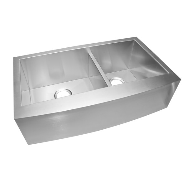 ... Stainless Steel Undermount 33-inch Double Bowl Farmhouse Kitchen Sink