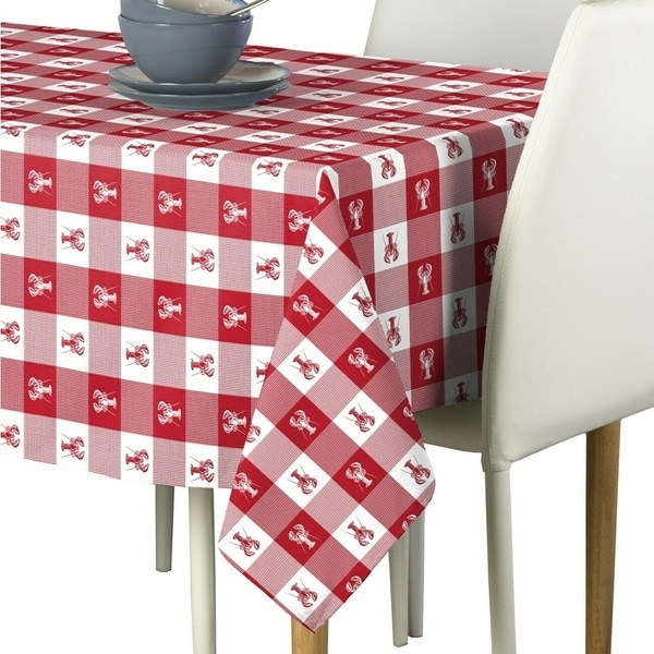 """Polyester Lobster Bisque Signature Tablecloth 60"""" x 120"""""""