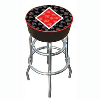 Diamond Poker 30-inch Padded Vinyl Chrome Base Double-rung Barstool https://ak1.ostkcdn.com/images/products/2985867/P11137177.jpg?impolicy=medium