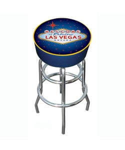 Las Vegas Padded Chrome Bar Stool