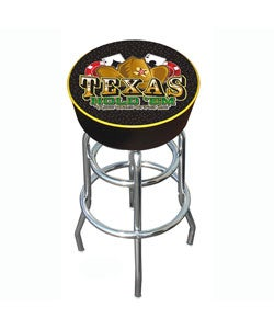 Texas Hold 'em Padded Bar Stool Chrome