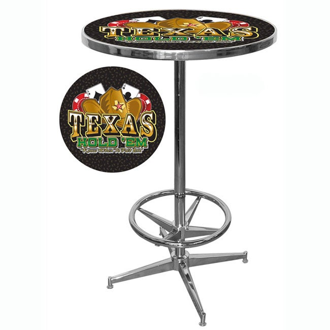 Texas Hold 'em Hi-Quality Pub Table - Thumbnail 0