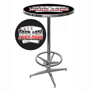 Four Aces Chrome Pub Table with 42-inch Base and 28-inch Diameter|https://ak1.ostkcdn.com/images/products/2985888/P11137185.jpg?impolicy=medium