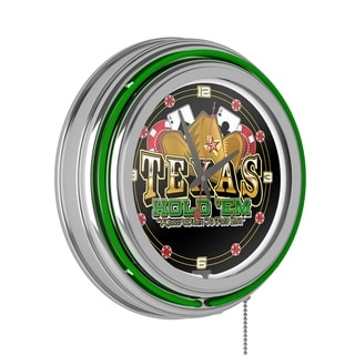 Link to Texas Hold 'em double ring 14 inch Neon Clock Similar Items in Fitness & Exercise Equipment