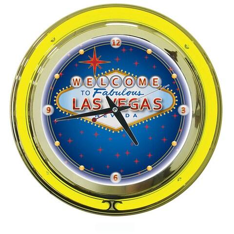 Las Vegas double ring 14 inch Neon Clock