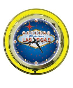 Las Vegas double ring 14 inch Neon Clock