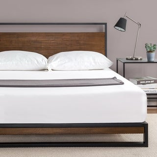 Carbon Loft Sollana Metal and Wood Platform Bed with Headboard