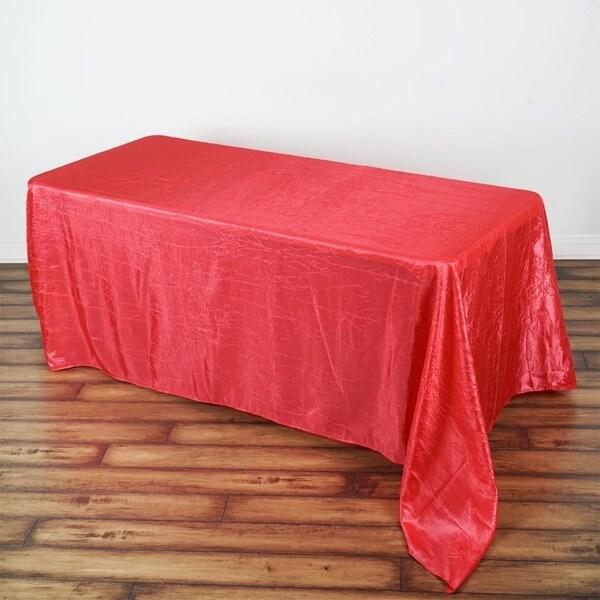 "Pintuck Rectangle Tablecloth 90"" x 132"" Coral"