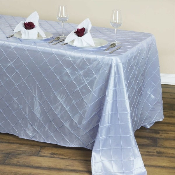 "Pintuck Rectangle Tablecloth 90"" x 132"" Lavender"