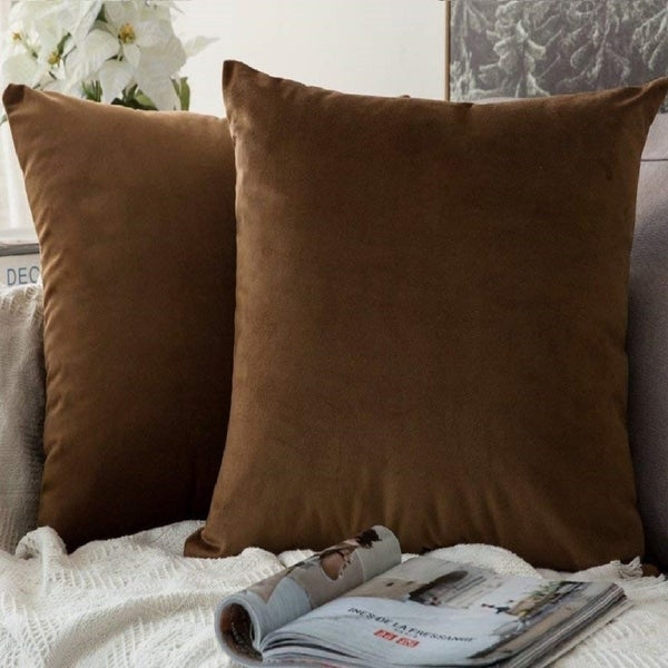 Brown Velvet Throw Pillows Online