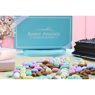 Andy Anand White Jordan Almonds Thin Sugar Coating Large Super Fine 2 pound
