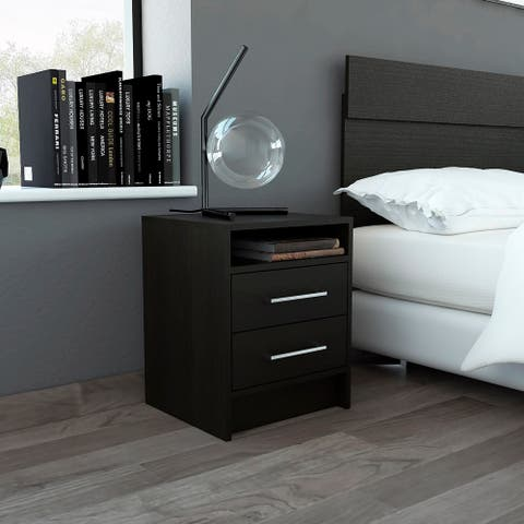 TUHOME Kaia Night Stand White