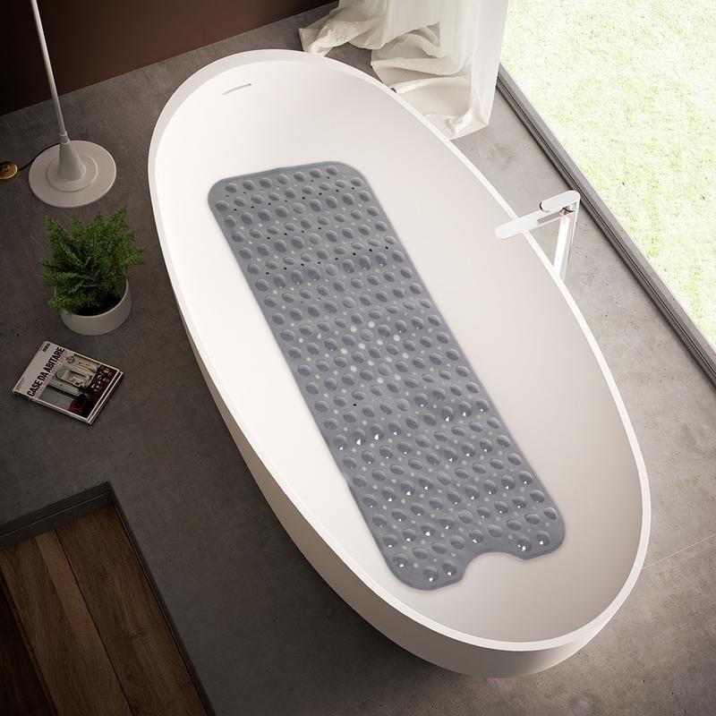 Extra Long Shower Bath Tub Mat Large Non-Slip Bathtub Mat Antibacterial Non Skid