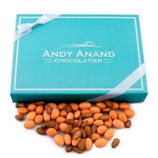 Andy Anand Orange Cream Almonds - fresh roasted almonds, drenched in rich smooth white chocolate,1 lb