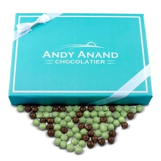 Andy Anand Chocolate Mint Cookies Bites - Dipped in Dark & White Mint Chocolate,1lbs
