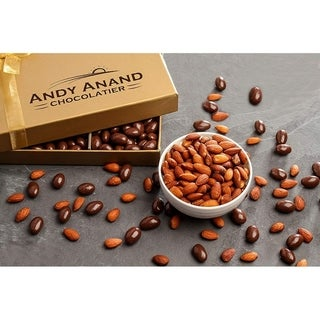 Andy Anand Sugar Free Dark Chocolate California Almonds, Vegan, Delicious, 1 lbs