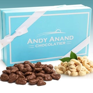 Link to Andy Anand Belgian Milk Chocolate Covered Natural Cashews with Sea Salt Gift Boxed & Greeting Card 1lbs Similar Items in Gourmet Food Baskets