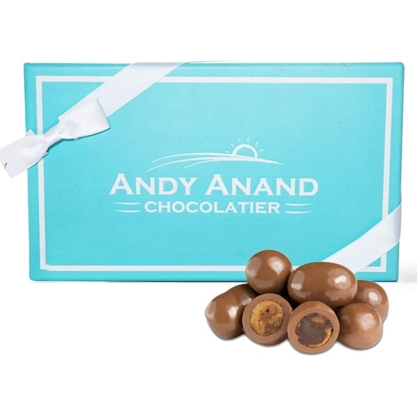 Andy Anand Milk Chocolate Covered Cappuccino Biscotti Gift Boxed & Greeting Card 1lbs. Opens flyout.