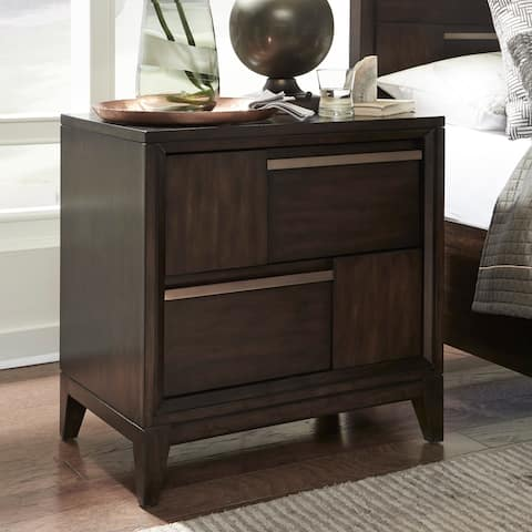 Magnussen B4769 Modern Geometry Wood Drawer Nightstand